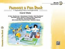 Famous and Fun Rock, Book 1, Early Elementary Piano Arrangements