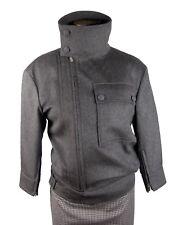 Belstaff Black Label Wool And Cashmere Runway Tatum Bomber Jacket Eu Size 42