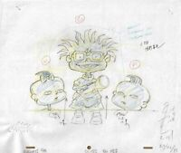 RUGRATS ORIGINAL 1990'S PRODUCTION CEL PENCIL DRAWING ANIMATION ART FLASHLIGHT
