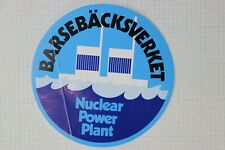 barsebacksverket Barseback plant Nuclear Power bumper window sticker Sweden