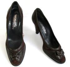 SAN MARINA - Zapatos tacones 9 cm todo piel marrón 39 - MUY BUEN ESTADO