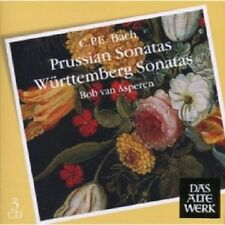 Bob van Asperen-prussian & wurtemberg sonatas 3 CD 39 tracks C.P.E. BACH NEUF