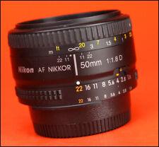 Nikon 50mm F1.8 D AF Autofocus Prime Nikkor Lens  - Sold with Rear Lens Cap