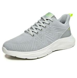 Men's Comfort Lace Up Knitted Breathable Sport Trainers Athletic Shoes Sneakers