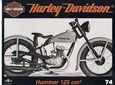 MOTOR CYCLES / UN SIECLE DE HARLEY DAVIDSON / ALTAYA / ANNEE 2012 / N° 74