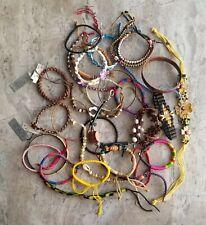 Vtg -Mod Boho Jewelry Lot Wraps + Bangle Bracelets Stone Vegan Carole Tagua Nut