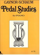 """Gaynor-Schaum """"Pedal Studies For Piano"""" Music Book-Very Rare-Brand New On Sale!"""