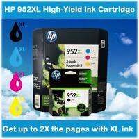 4-Pack, HP 952XL Black, Cyan, Magenta, Yellow High-Yield Ink Cartridges EXP 2020