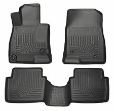 Husky Liners WeatherBeater Floor Mats - 3pc - 98651 - Mazda 3 2014-2018 - Black