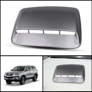 SILVER FRONT BONNET HOOD SCOOP COVER FIT TOYOTA HILUX FORTUNER SW4 2015-2021