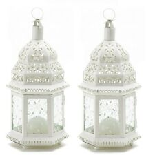 "White Moroccan Wedding Lanterns 12"" tall (Set of Two) Party Supplies 38465"