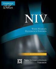 Niv Wide Margin Reference Bible, Black Calfsplit Leather, Red Letter Text Ni7...