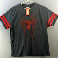 Marvel Spider-Man NWT Men's 3XL Heather Blue with Red Spider Graphic T-Shirt
