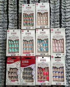 Kiss The Collection False Nails (Multiple Styles) (No Glue) New Stock Updated