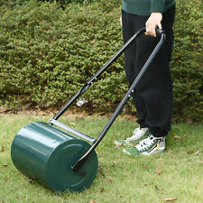 More details for outdoor garden lawn roller heavy duty rolling grass roller handle perfect lawns