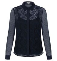 Hobbs Clarice Navy Shirt. Various Sizes. RRP £99. NEW WITH TAGS.