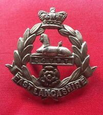 VICTORIAN EAST LANCASHIRE REGIMENT CAP BADGE -100% ORIGINAL GUARANTEED!!!