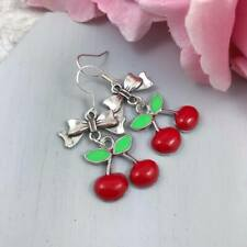 Cherry Earrings, Rockabilly Red Cherries Earrings, Vintage Inspired 50s Earrings