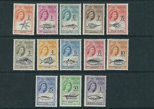 TRISTAN DA CUNHA 1961 FISH decimal currency (Scott 42-54) VF MNH