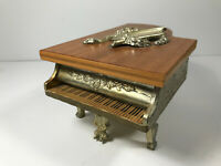 Lovely Vintage Buhler Piano Switzerland Swiss Music Jewelry Box thorens