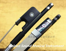 1pcs Double Bass Bow Black Carbon Fiber Stick Ebony Frog French style 4/4 New
