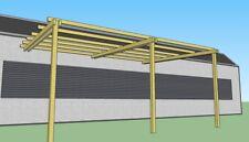 Pergola addossata in legno 5x4 pensilina tettoia portico in pino impregnato