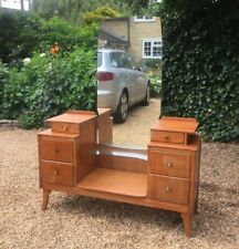 VINTAGE 1950'S LEBUS LIGHT OAK DRESSING TABLE