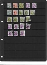 GB - England Regional 21 used postage stamps