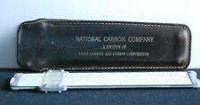 National Carbon Company Slide Rule Union Carbide Pickett