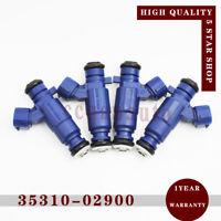 4 Fuel Injector Nozzle 35310-02900 for Hyundai Atos MX i10 PA Kia Picanto BA 1.1