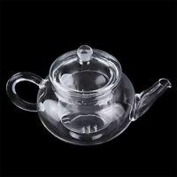 Heat Resistan Glass Teapot With Infuser Coffee Tea Leaf Herbal Pot 250ml GDR