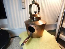 """Solid Copper Hand Crafted Tea-Pot Bird House w/Custom Handle Perch 1 7/8"""" Hole"""
