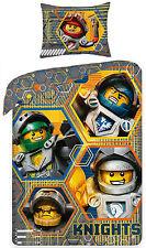 LEGO NEXO KNIGHTS PARURE LETTO 100% COTONE COPRIPIUMINO 140x200 + FEDERA 70x90