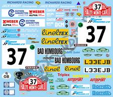 1/10 Mini Decal Set - Monte Carlo Rally - Paddy Hopkirk 1994 Rally Tamiya