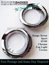 RANGE ROVER SPORT CHROME FOG LIGHT LAMP SURROUNDS COVERS BEZELS TRIMS 2005 -2009