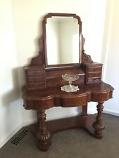 Beautiful Antique Victorian Burr Walnut Dressing Table / Hall Stand!