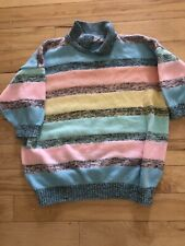 Vtg 80s Pastel Saved By Bell Costume Collar Sweater Halloween Crop Sleeves S M L