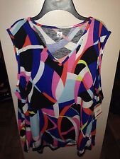 Anne Klein Sport Sleeveless Multi Colored Size 3X
