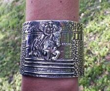 Equestrian Horse Jumper Cuff Bracelet Cavalli Del Mar Large Sterling Silver