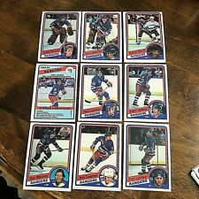 1984-85   O-Pee-Chee  NEW YORK RANGERS 18  card team set/lot