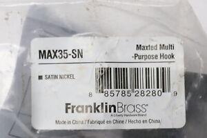 Franklin Brass MAX35SN Maxted Multi Purpose Hook Satin Nickel Finish