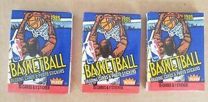 1989-90 NBA Fleer Basketball 3 Sealed Wax Packs Factory Sealed Possible Jordan