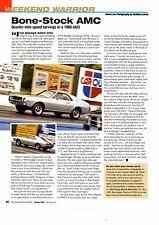 1968 AMC AMX  ~  NICE WEEKEND WARRIOR ARTICLE / AD