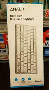 BRAND NEW Anker Bluetooth Ultra-Slim Keyboard, White, A7726J21 FREE SHIPPING