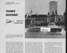 Thames Hoverbus Denny D.2 On London River 7-25-1963 2 Pg Article See London