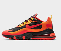 Men's Nike 270 React Magma Casual Shoes Black/Chile Red/Speed Yellow CZ9267 001