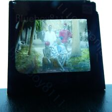 Colonial west Africa native tribes people huts magic lantern