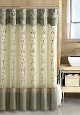 VCNY® Daphne Embroidered Sheer & Taffeta Fabric Shower Curtain - Assorted Colors