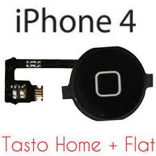 Kit TASTO HOME+FLAT FLEX per APPLE IPHONE 4 4G CURSORE CENTRALE TASTINO COVER