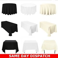 Polyester Tablecloth Cover Protector Dining Kitchen Party Catering Events